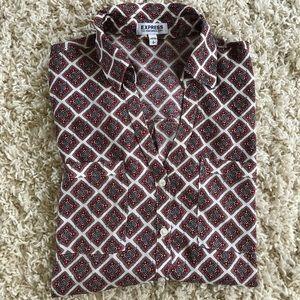 Express Multi Color portofino Shirt. Size small.